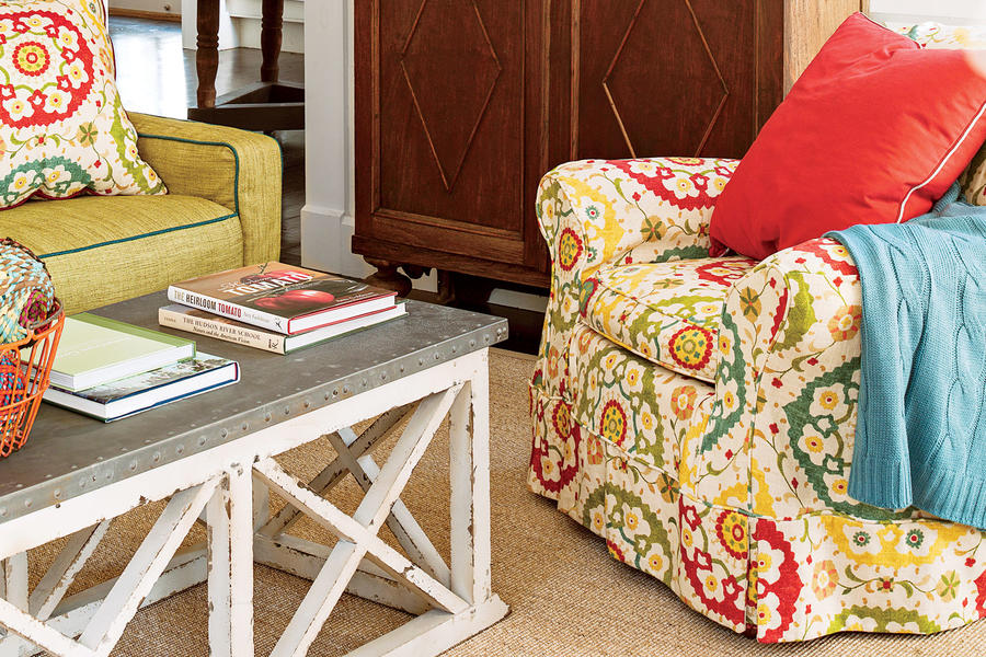 Budget-Savvy Solution: Colorful Slipcovers