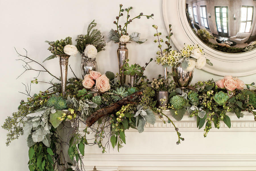 Top Your Mantel with Winter Blooms