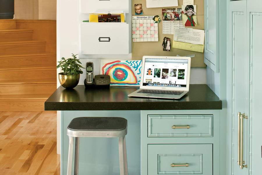 docking station modern family kitchen southern living. Black Bedroom Furniture Sets. Home Design Ideas