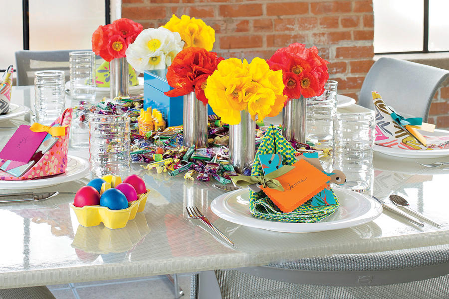 Colorful Shower Table Setting