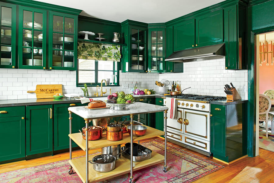 Colorful Kitchen Redo
