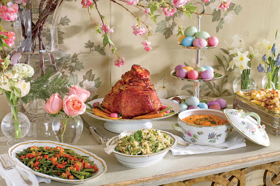 Traditional easter dinner recipes southern living - Easter table decorations meals special ...