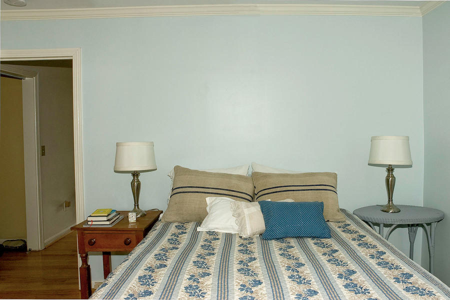 Before: Yellow and Blue Bedroom Makeover