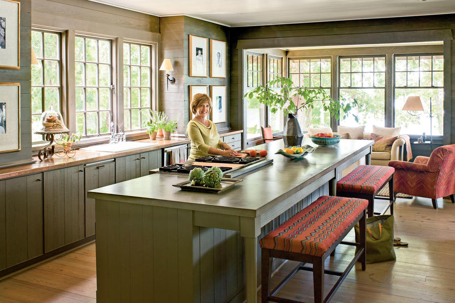 Natural Lake House Kitchen