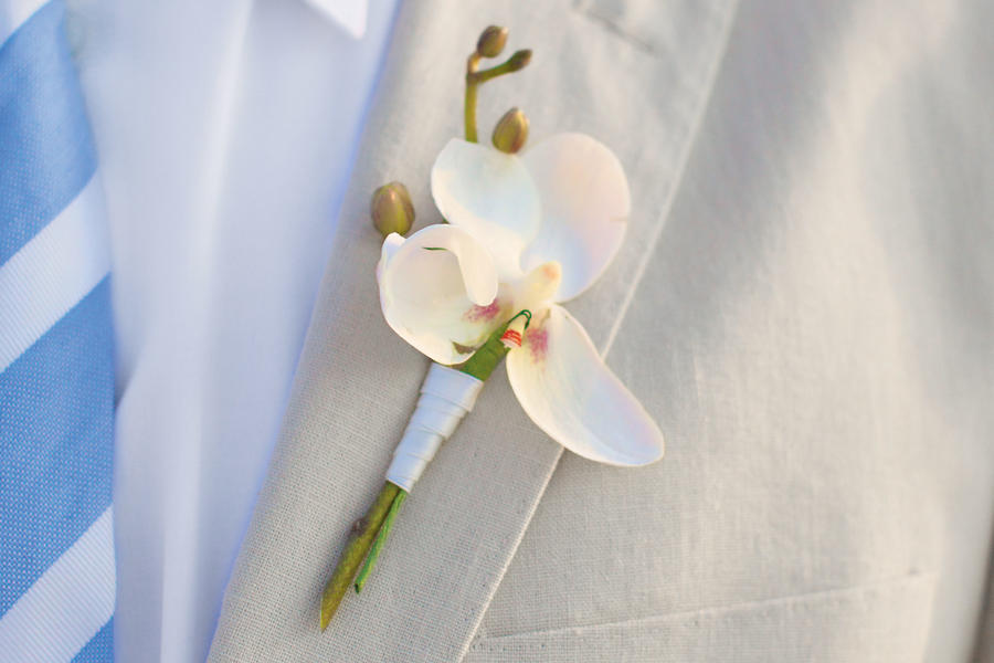 White Orchid Boutonniere - Boutonniere - Southern Living
