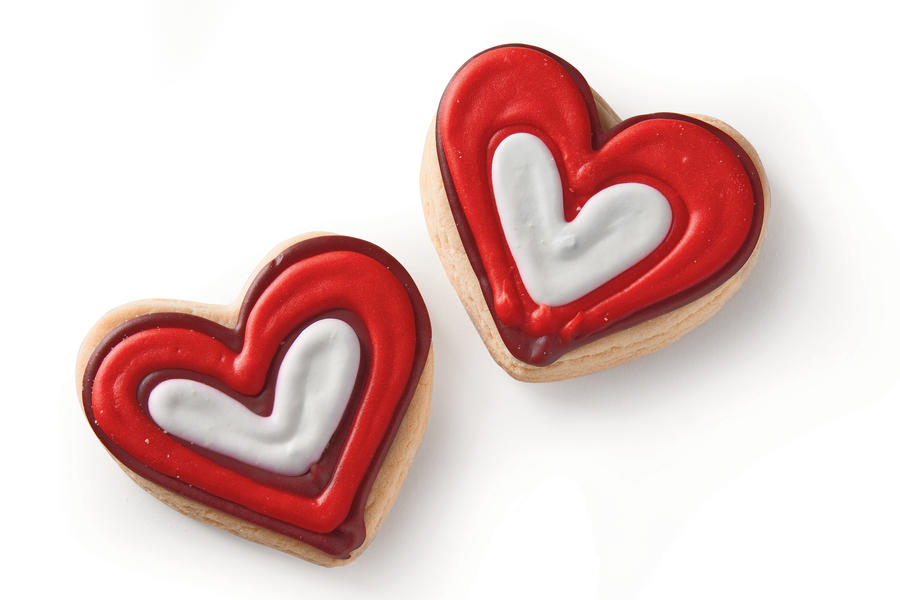 Heart Sugar Cookies Valentine's Day Gift