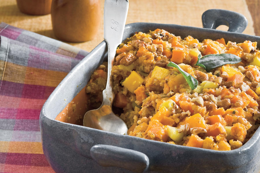 Southern Living Recipe: Cornbread Stuffing with Sweet Potato and Squash