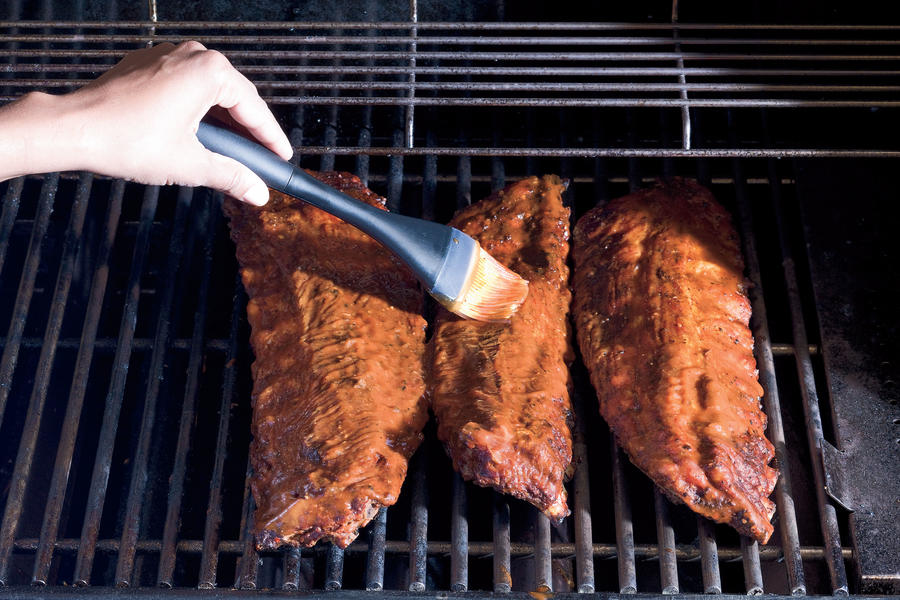 How To Grill Baby Back Ribs: Separate & Baste