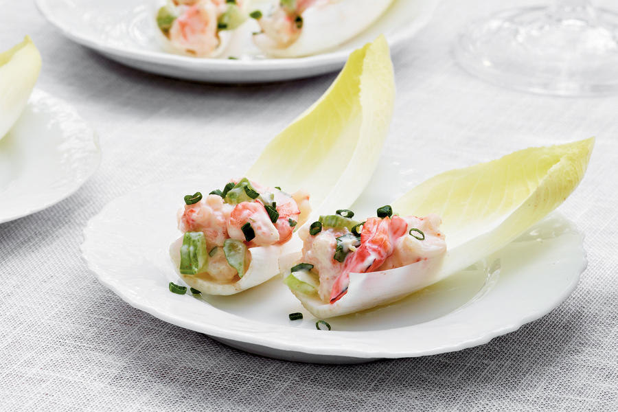 Shrimp Salad-Stuffed Endive