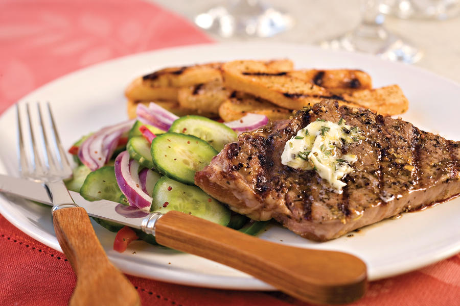 Fourth of July Recipes: Strip Steak with Rosemary Butter