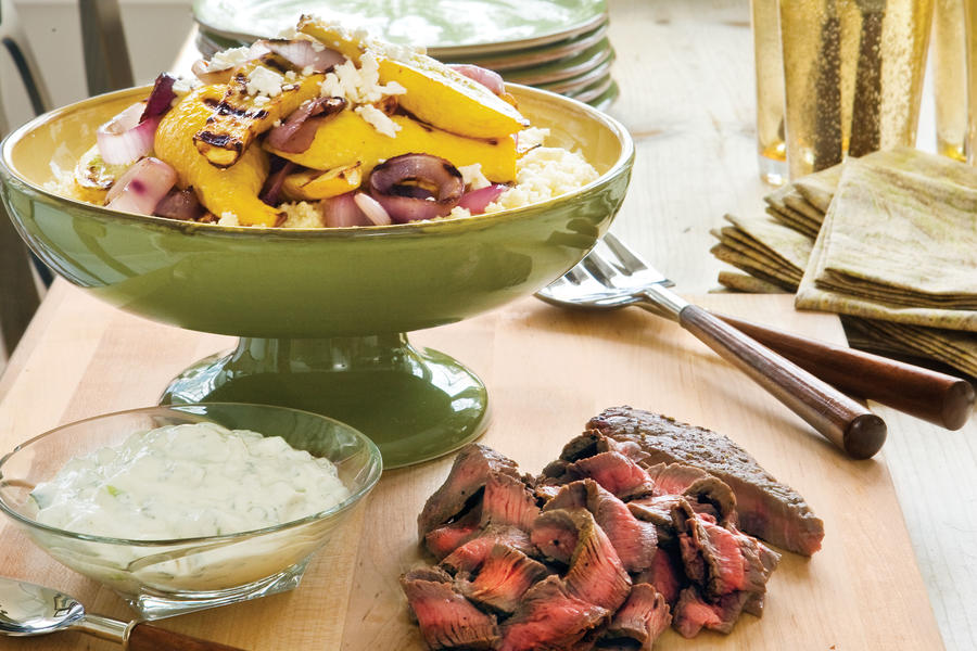 Easy Weeknight Grilling Recipes: Greek-Style Beef and Vegetables