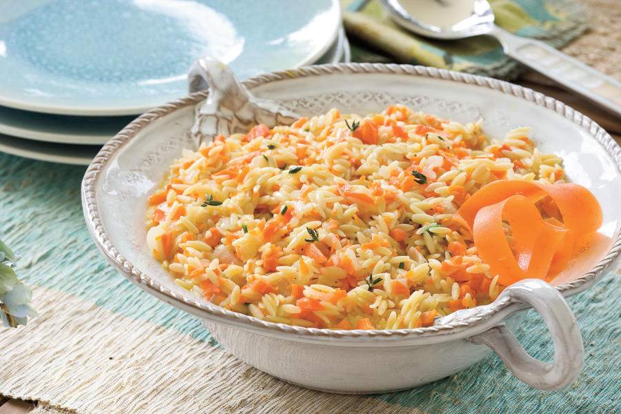 Quick and Easy Summer Party Menu: Carrot Orzo