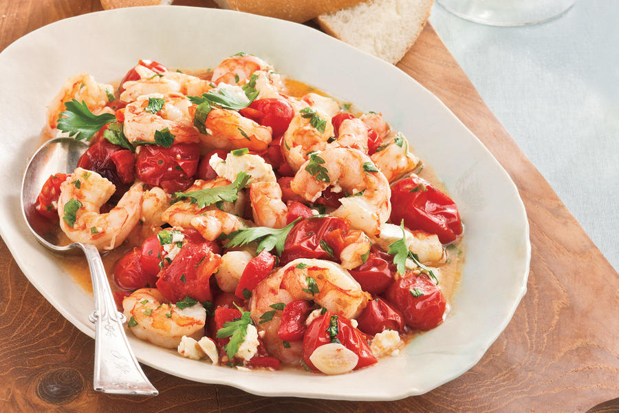 Easy, Healthy Seafood Recipes: Roasted Tomato-and-Feta Shrimp