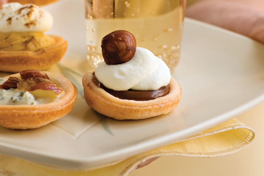 Wedding Shower Recipe Ideas: Chocolate-Hazelnut Tartlets