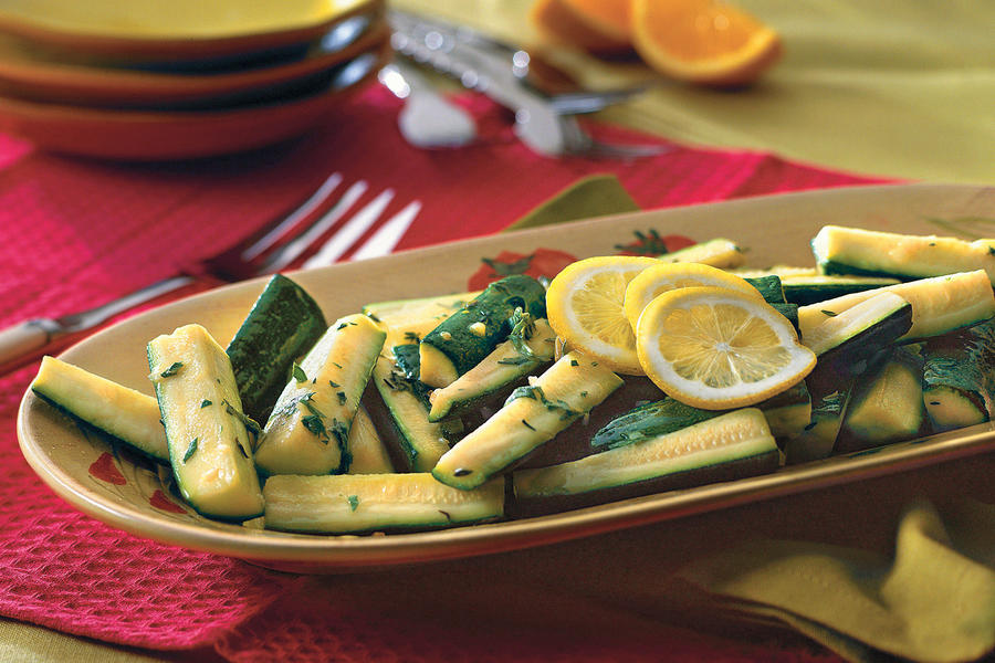 Zucchini With Citrus-Herb Dressing Recipe
