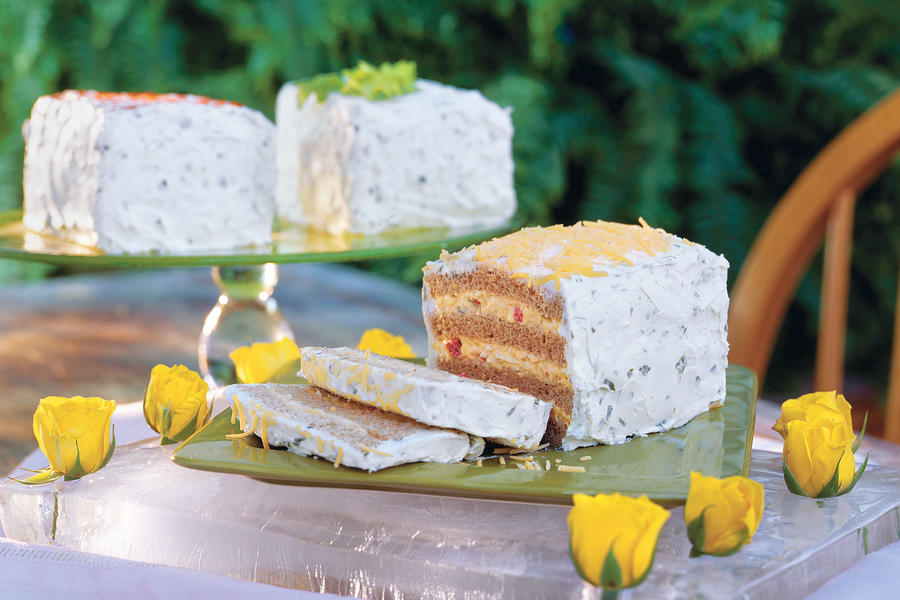 Wedding Bridal Shower Ideas: Frosted Sandwiches
