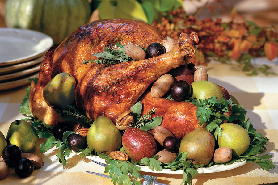Thanksgiving Menus: Roasted Turkey With Sage & Thyme Recipe