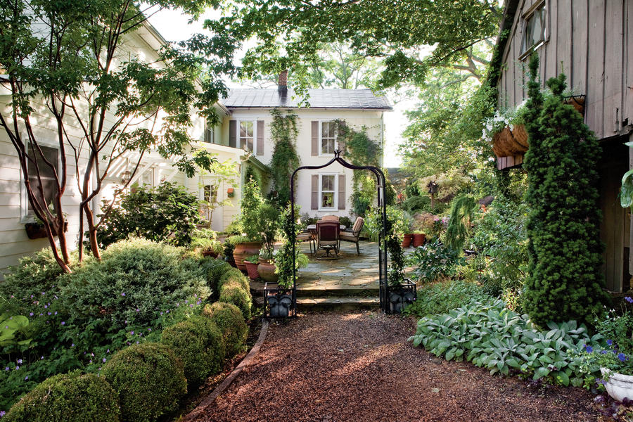 Shady backyard landscaping ideas house decor ideas for Southern living landscape design
