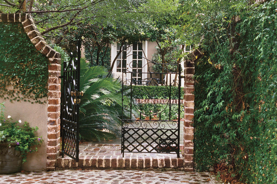 Welcoming Courtyard Gate