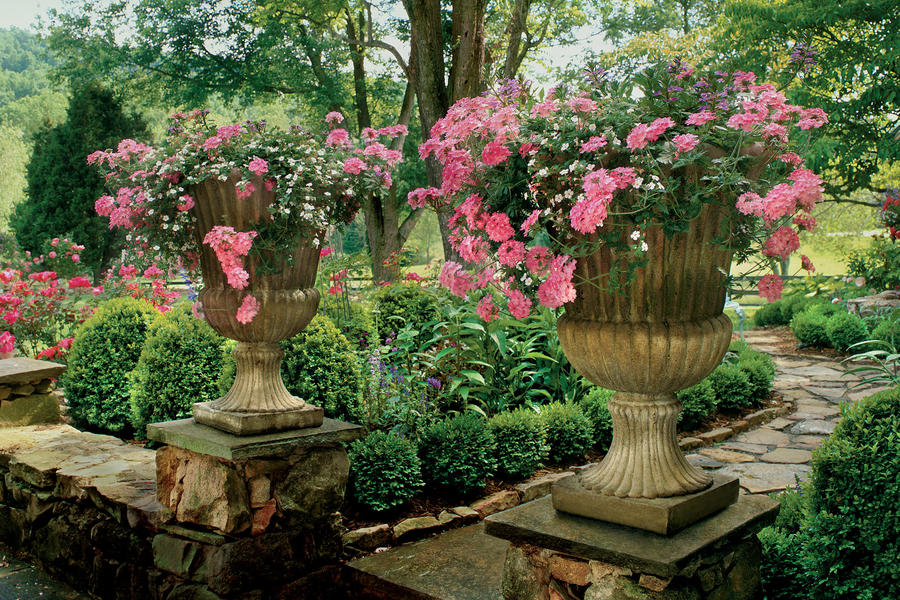 Raised Urns Spectacular Container Gardening Ideas Southern Living