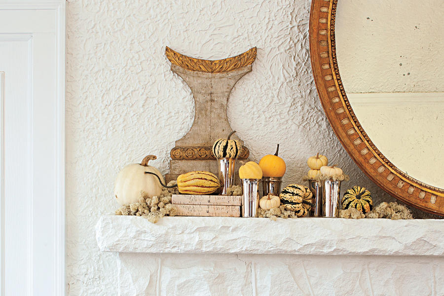 Adorn a Mantel Traditional Style