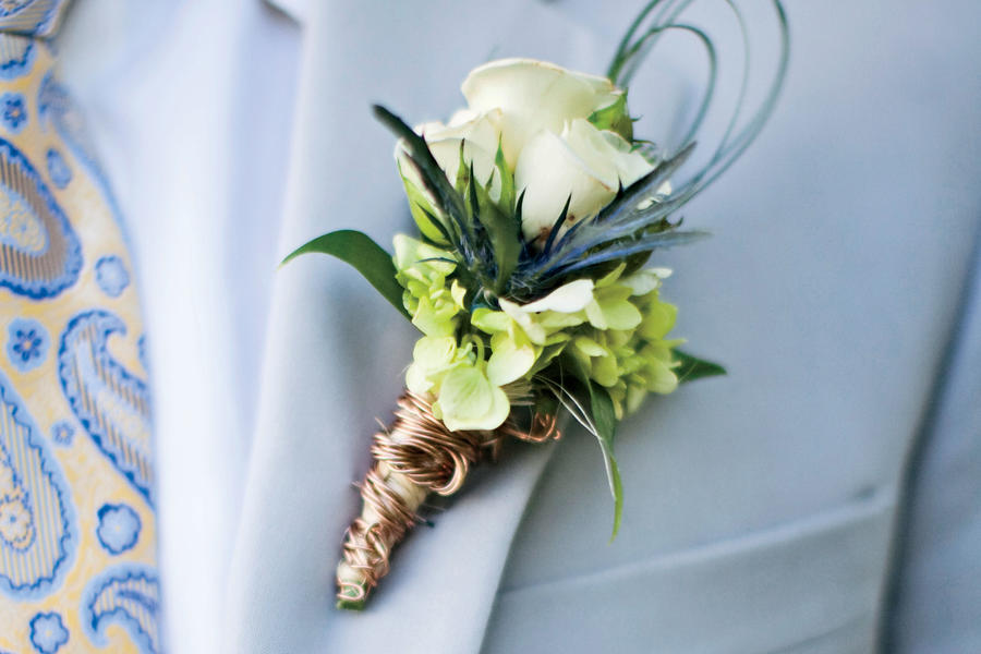Copper-Tied Boutonniere