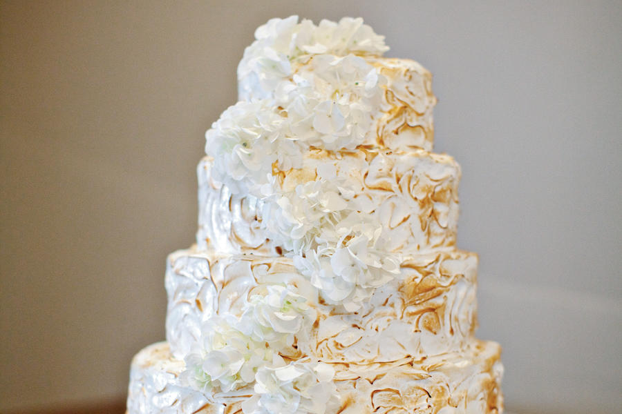Toasted Meringue Wedding Cake
