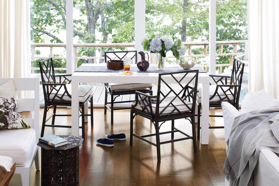 White Painted Home Decor: Dining Area: After