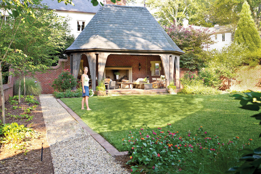 Backyard Decorating Ideas: English Garden Folly - Southern Living