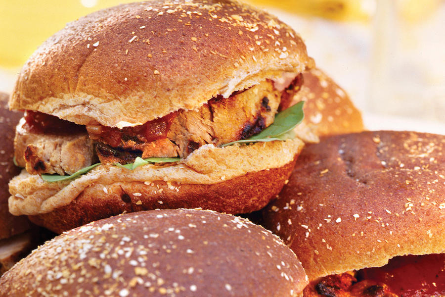Grilled Burgers and Sanwiches Recipes: Grilled Pork Tenderloin Sandwiches