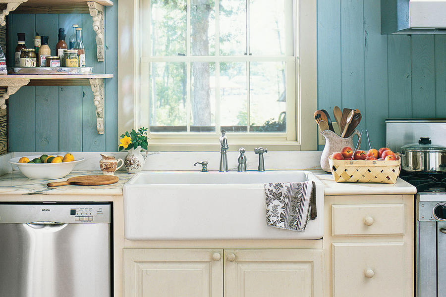 Blue Farmhouse Sink : Blue Cottage Sink - Farmhouse Sinks with Vintage Charm - Southern ...