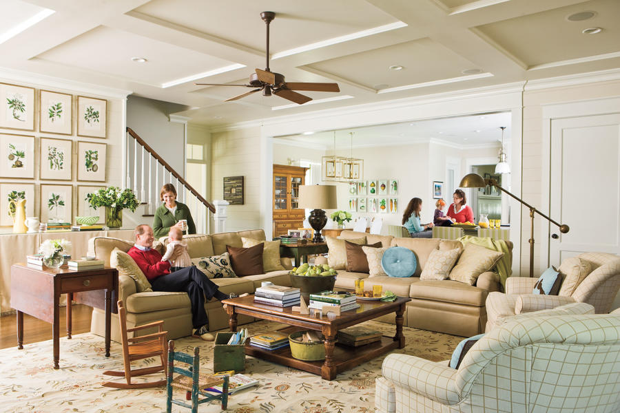 a true family room home ideas for southern charm