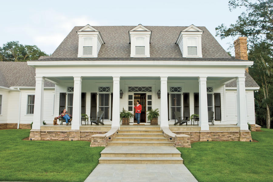 Home ideas for southern charm southern living for House plans with columns and porches