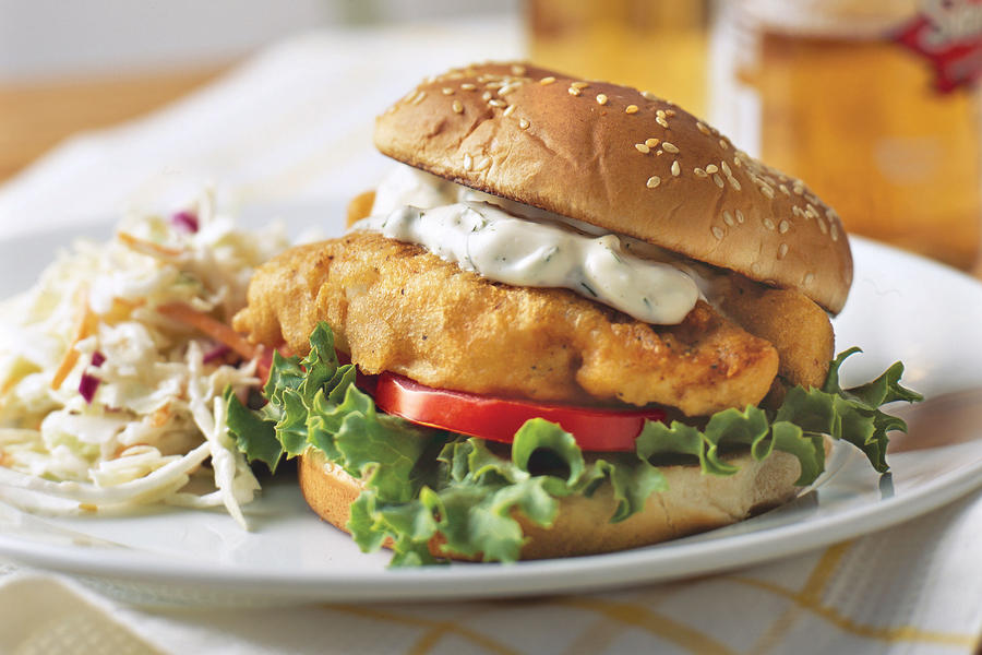 Fried fish sandwiches best dinner recipes southern living for Fish sandwich recipe