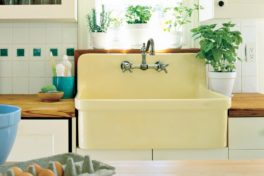 Butter Yellow Farmhouse Sink