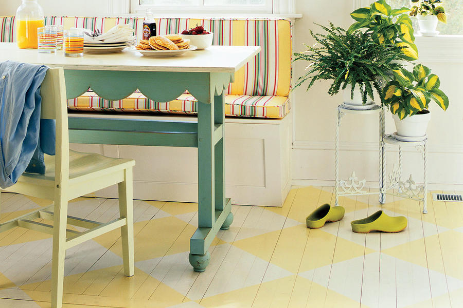 Farm Kitchen Remodeling Ideas: Painted Floors