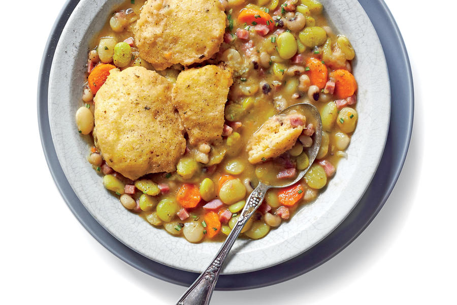 with cornmeal dumplings january 2016 recipes southern living