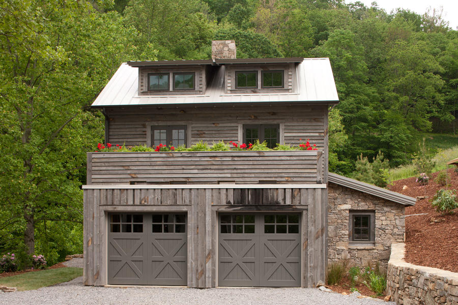 Farmhouse-Style Wood Garage Door