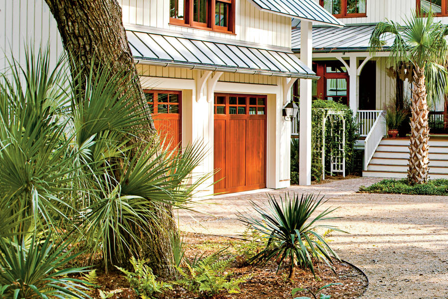 Coastal Wood Garage Doors