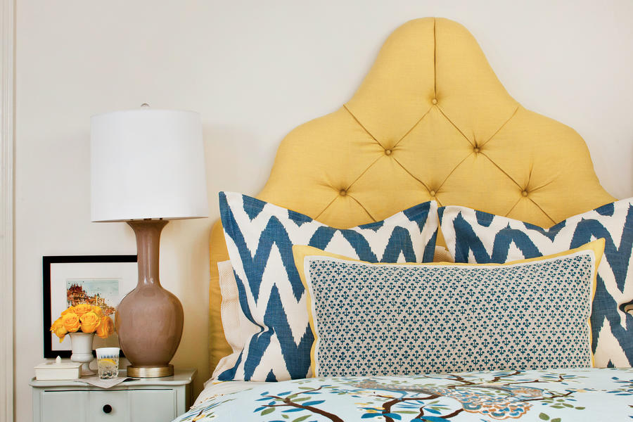 Classic Blue & Yellow Bedroom