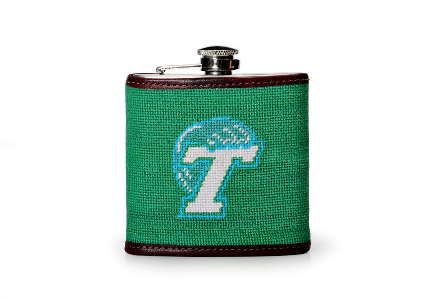 Needlepoint Flask