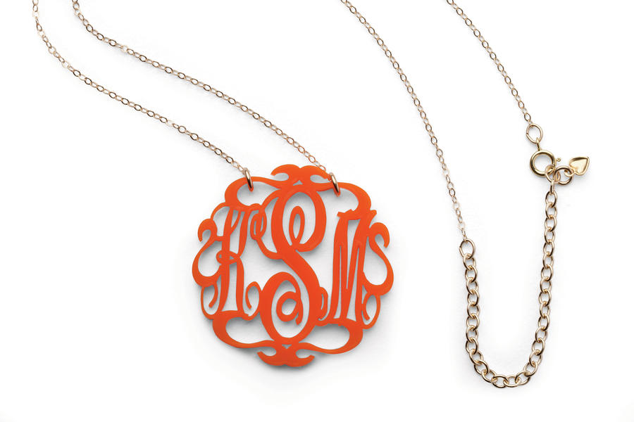 Monogrammed Necklace in 18 Colors