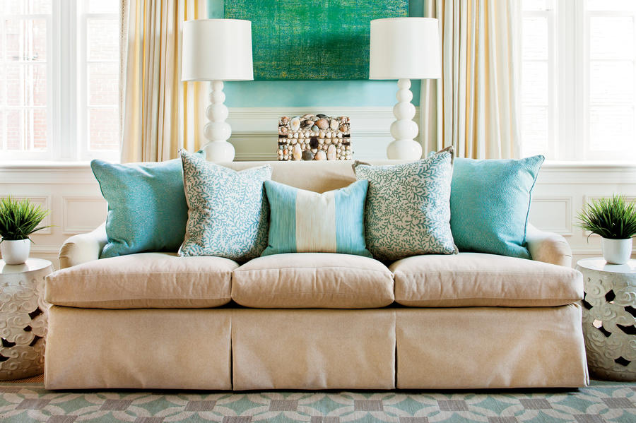 Arrange Sofa Pillows How To Decorate Any Room Southern