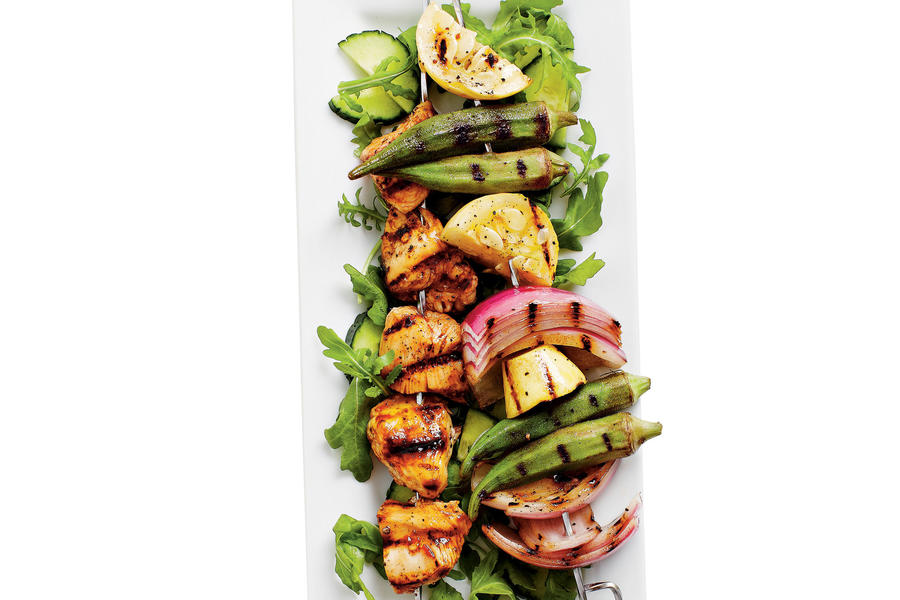Grilled Chicken-Vegetable Kabobs Recipe