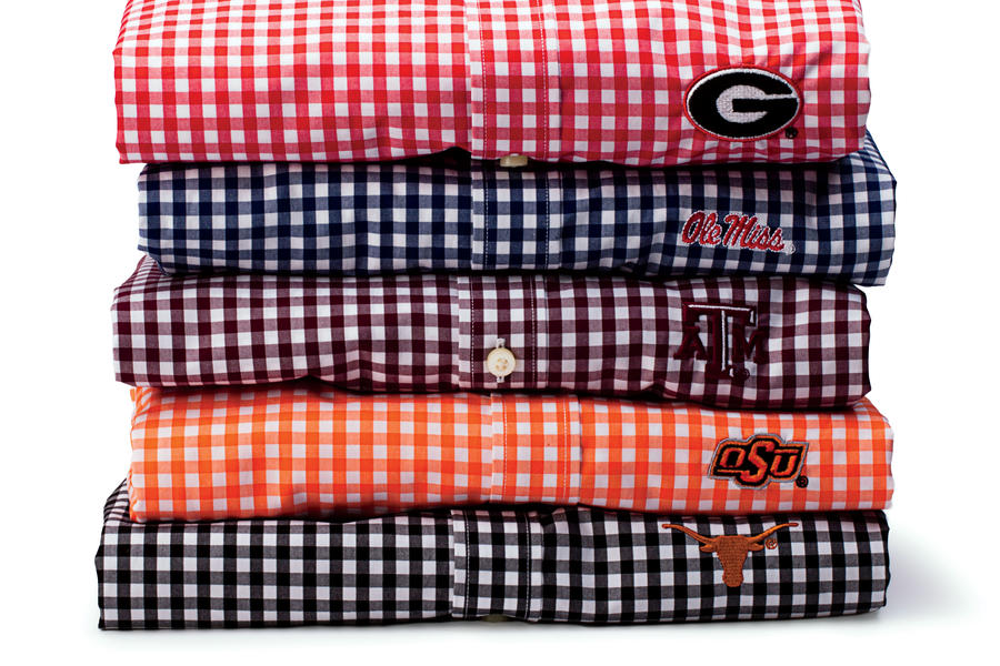 Gingham Game-Day Button-Down