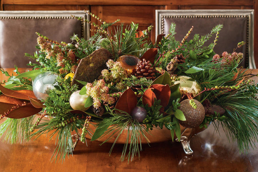 Create an Evergreen Centerpiece
