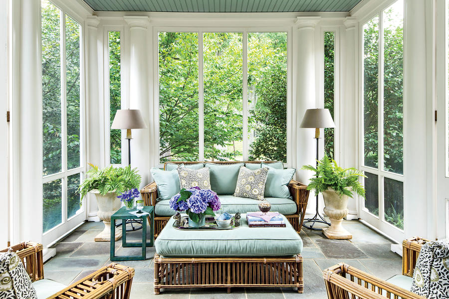 Elegant Colonial Porch - Porch and Patio Design ... on Large Back Porch Ideas id=71744