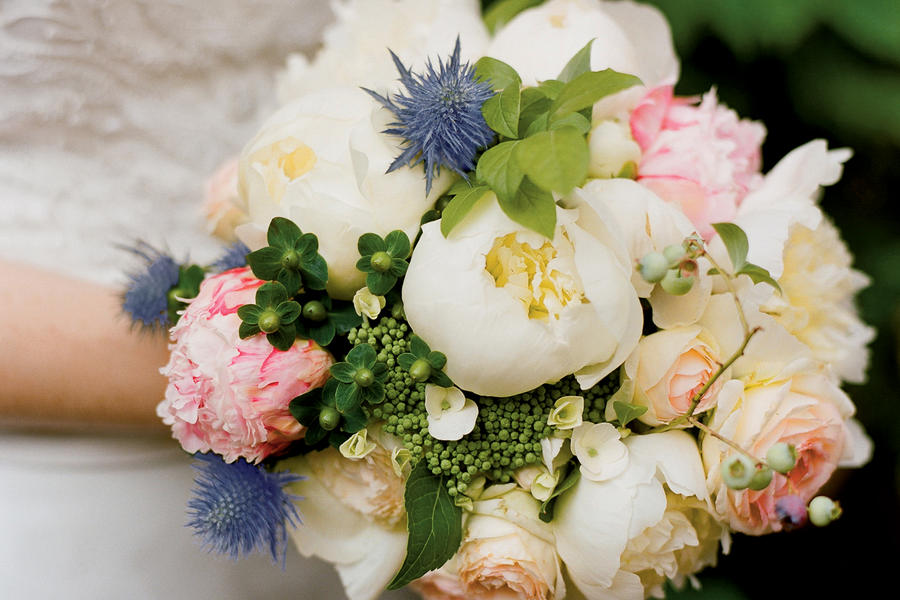 Peony, Hydrangea, and Garden Rose Bouquet