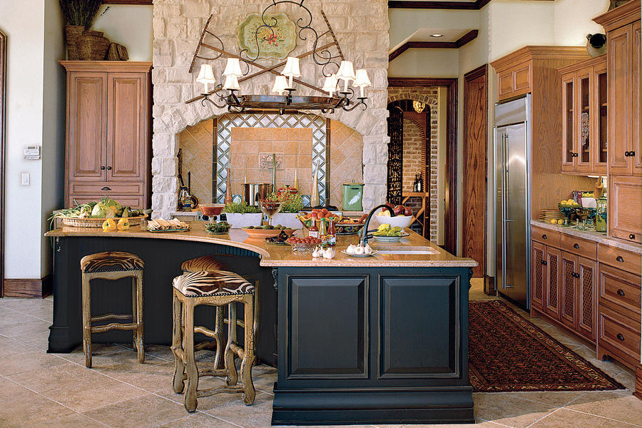 Rustic Kitchen with Modern Appointments