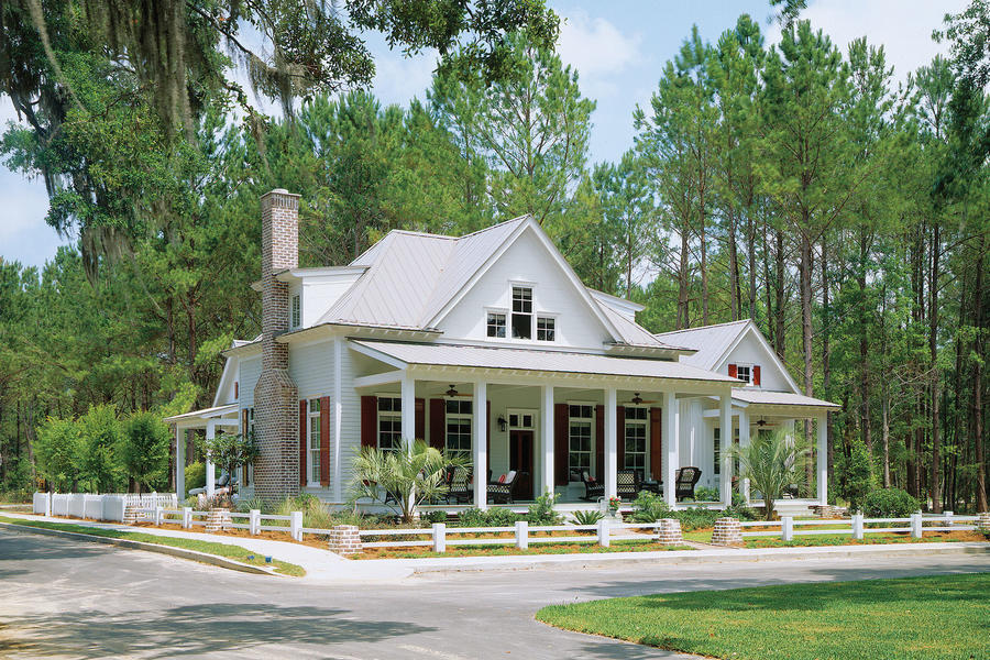 House plans new orleans cottage for Southern living house plans with keeping rooms